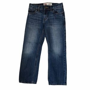 Levi's 514 Straight Cut Distressed Boys Jeans